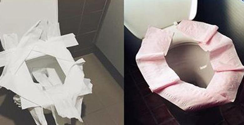 klozete tuvalet kağıdı