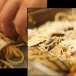 közlenmiş patlıcanlı spagetti
