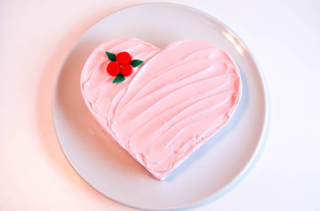 kalıpsız kalp kek