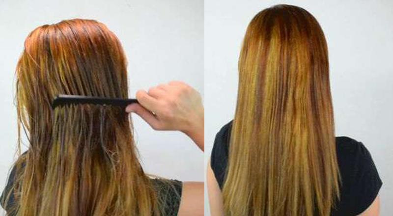 saçınızı sütle düzleştirin