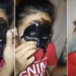 siyah maske kullanırken