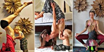 Hem Yoga Yapıyor Hem Emziriyor