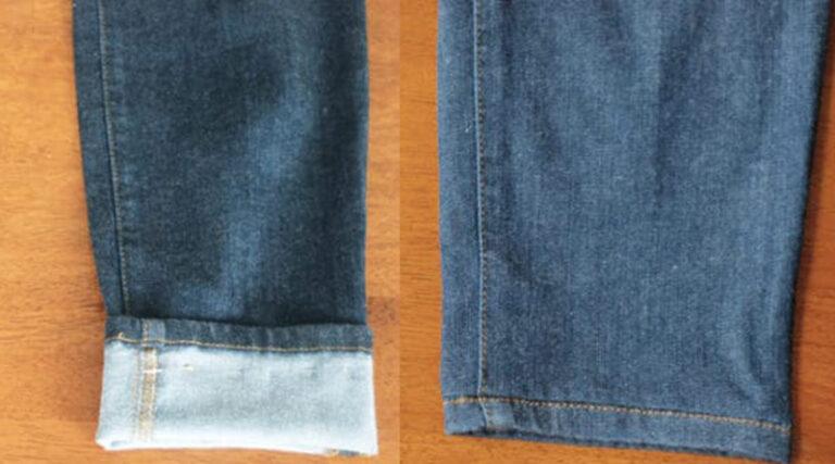 Orijinal kot pantolon paçası