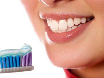 diş fırçası ile temizlenen