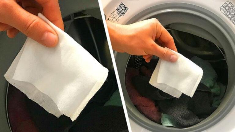 çamaşır makinesine ıslak mendil at